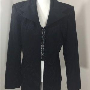 Vintage Cache Evening Black Paisley Jacket Size 10